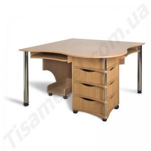 Угловой компьютерный стол Эксклюзив-4