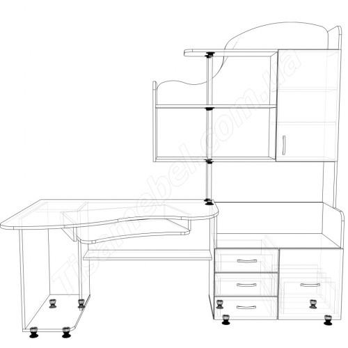 Прямой компьютерный стол СК-6 Тиса Мебель