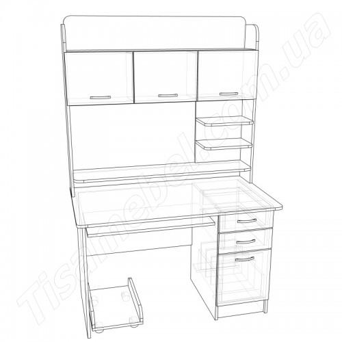 Прямой компьютерный стол СУ-12 Тиса Мебель