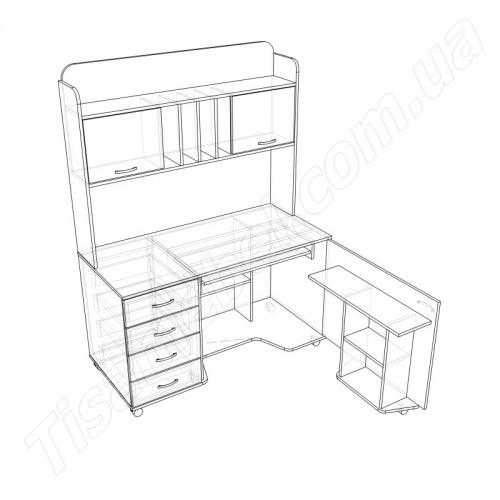 Прямой компьютерный стол СУ-16 Тиса Мебель