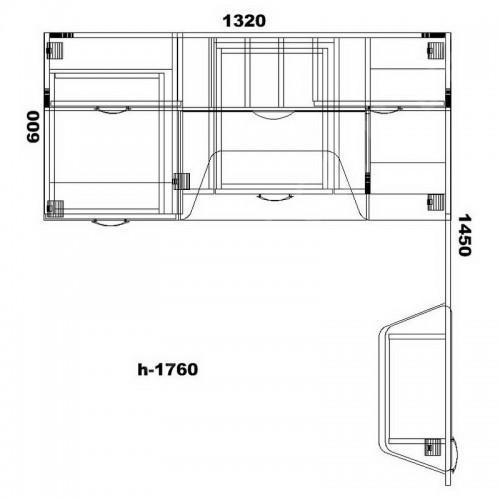 Стол для ноутбука СУ-15 Тиса Мебель